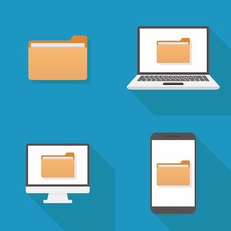 Design plano de ícone de arquivo