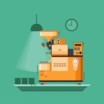 Design plano de ícone de máquina de café.