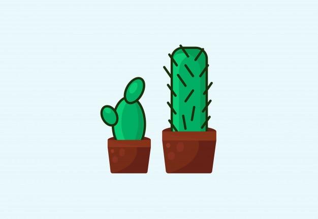 Design plano de ilustração de kaktus