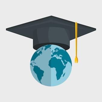 Design plano de ilustração em vetor ícones on-line de educação