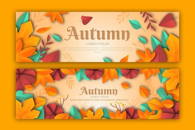 Design plano de modelo de banner de outono