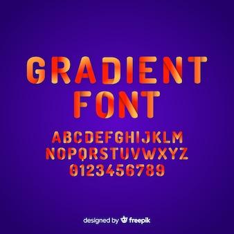 Design plano de modelo de fonte de gradiente