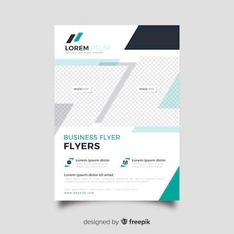 Design plano de modelo de panfleto de negócios abstratos