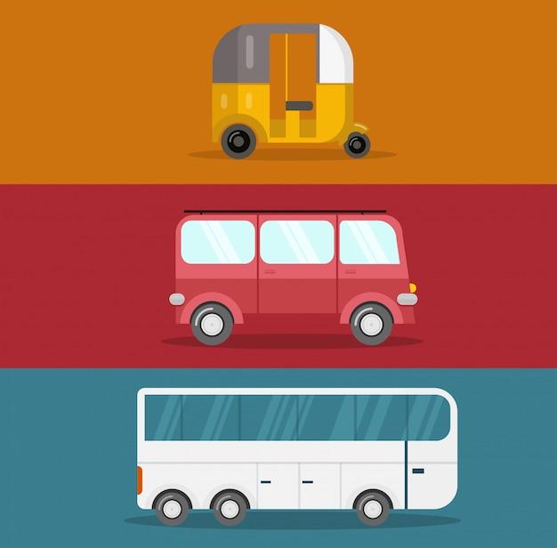 Design plano de ônibus
