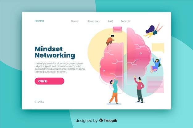 Design plano de página de destino de negócios