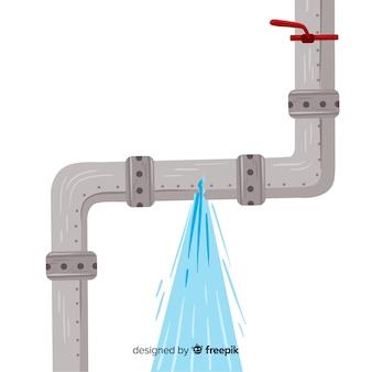Design plano de tubo quebrado