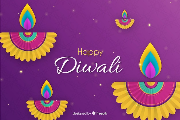 Design plano de venda de diwali com gradiente