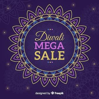 Design plano de venda de diwali roxo