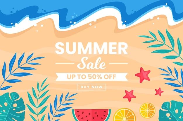 Design plano de vendas sazonais de verão design
