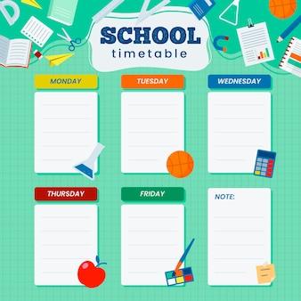 Design plano de volta ao calendário escolar