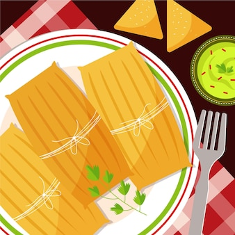 Design plano deliciosos tamales