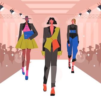Design plano desfile de moda