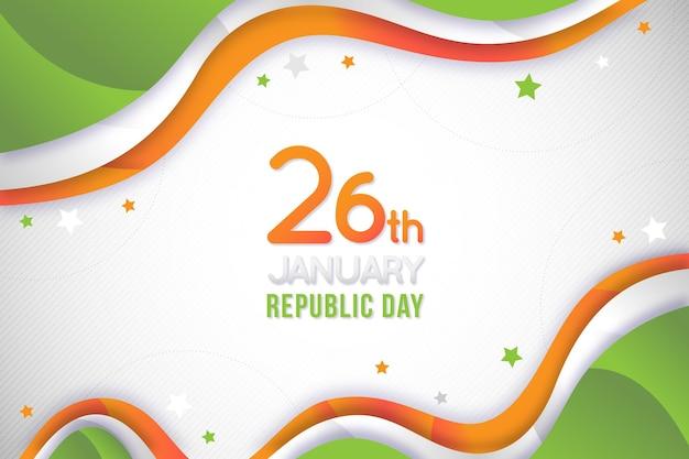 Design plano dia da república indiana