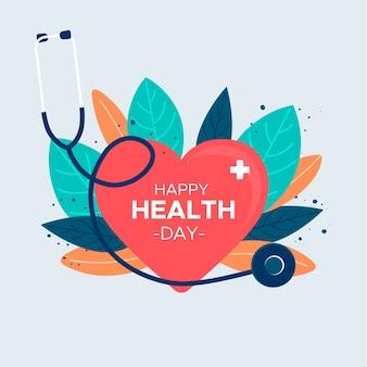 Design plano dia mundial da saúde design