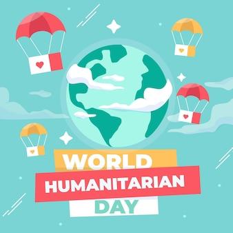 Design plano do dia humanitário mundial