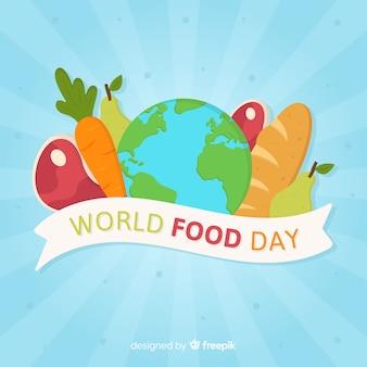 Design plano do dia mundial da comida