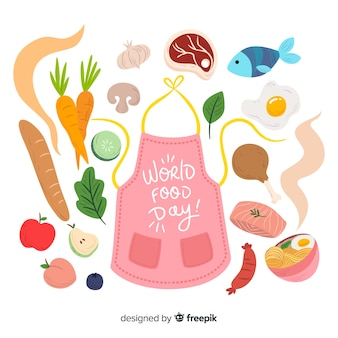 Design plano do dia mundial da comida
