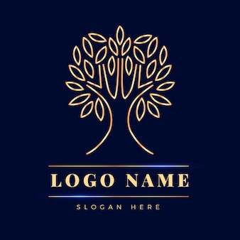 Design plano do logotipo da tree life