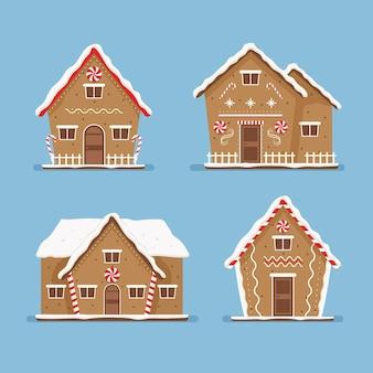 Design plano do pacote gingerbread house