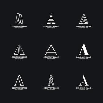 Design plano e modelos de logotipo