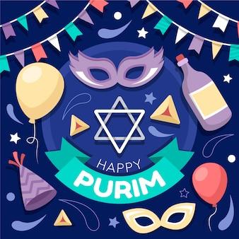 Design plano feliz dia de purim