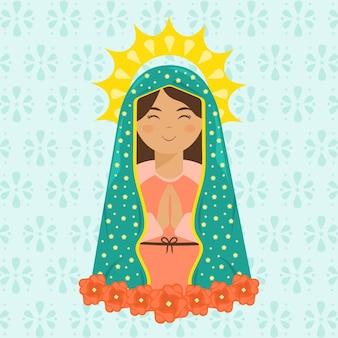 Design plano fiesta de la virgen