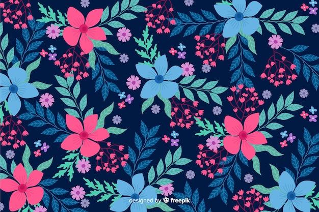 Design plano fundo floral bonito