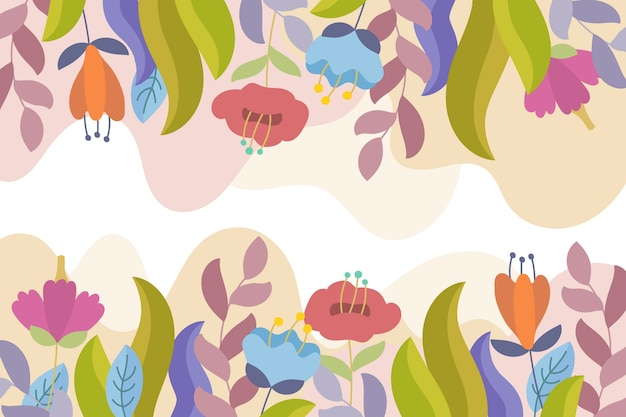 Design plano fundo floral em tons pastel