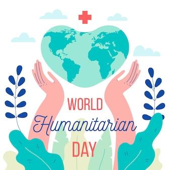 Design plano ilustrado evento mundial do dia humanitário