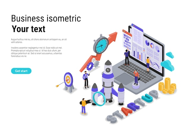 Design plano isométrico vector