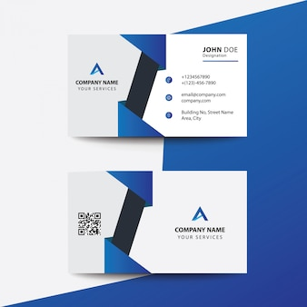 Design plano limpo preto cartão de visita de negócios corporativo premium azul escuro
