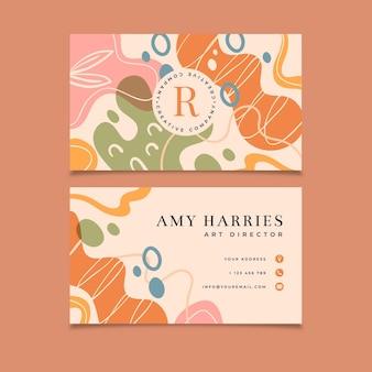Design plano molda cartões de visita