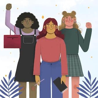 Design plano mulheres empreendedoras confiantes
