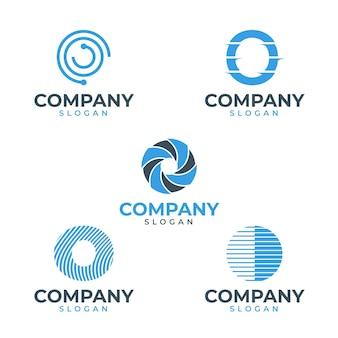 Design plano o pacote de modelos de logotipo