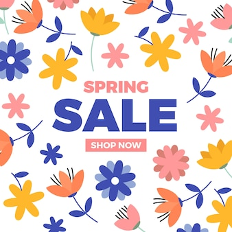 Design plano para ofertas de venda de primavera