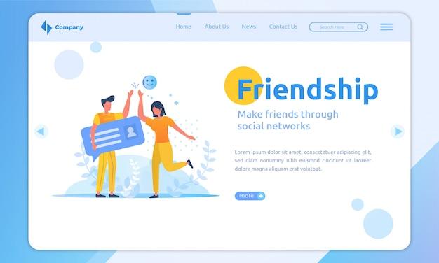 Design plano se torna um novo amigo no modelo de página de destino