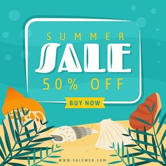 Design plano venda verão design