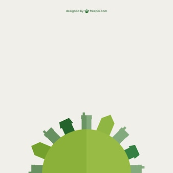 Design plano verde vetor terra