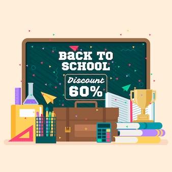 Design plano volta ao conceito de vendas da escola