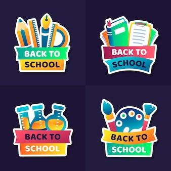 Design plano volta para coleção de emblemas de escola