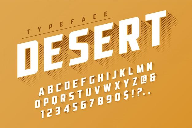 Design popart de fonte de exibição retrô no deserto