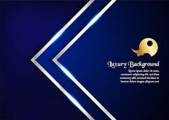 Design premium azul para capa