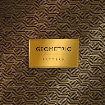 Design premium de luxo padrão geométrico