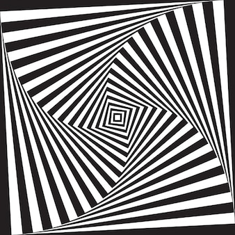 Design preto e branco abstrato do fundo da ilusão óptica