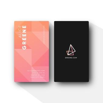 Design preto mínimo para cartão de visita