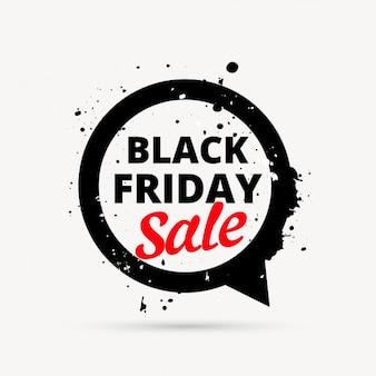 Design preto venda sexta-feira em bate-papo bolha