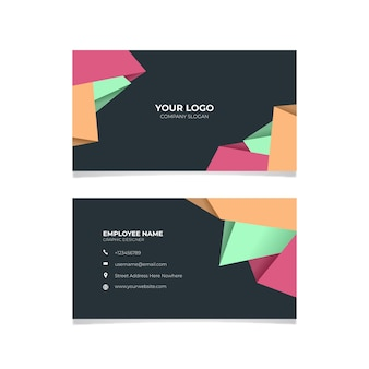 Design profissional de cartão de visita abstrato
