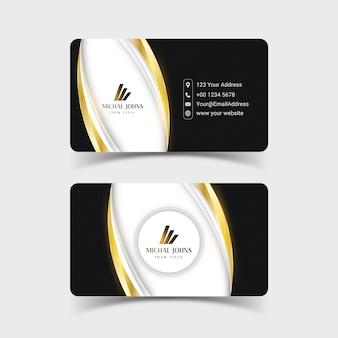 Design profissional de cartão de visita de luxo