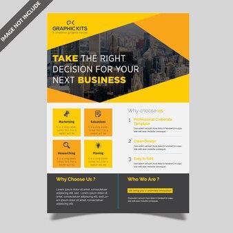 Design profissional de panfleto