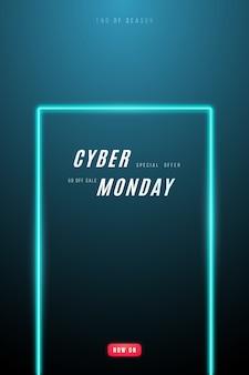 Design promocional da cyber monday.